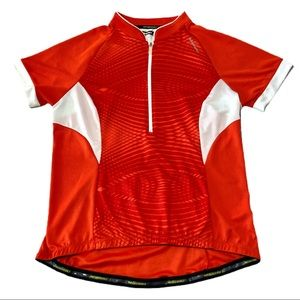 Nishiki Orange & White Bike Jersey Size Large